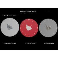 Pendule grise Cocotte