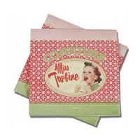 Serviettes en papier Miss Tartine
