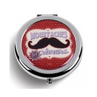 Miroir de poche Moustaches