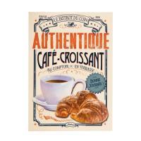 Carte Postale Café Croissant