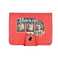 Porte-cartes Vive La Crise