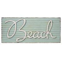 Plaque en métal Beach
