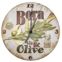 Horloge métal reliéfé Born to be olive