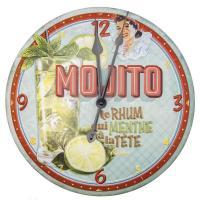 Horloge métal reliéfé Mojito