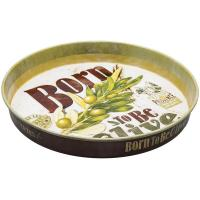 Plateau rond Born to be olive
