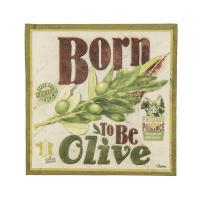 Serviettes en papier Born to be olive