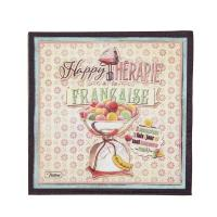 Serviettes en papier Happy thérapie-macaron
