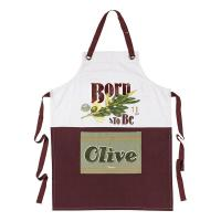 Tablier cuisine Born to be olive