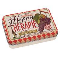 La boîte et son savon Happy thérapie-vin