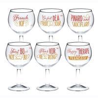 Set de 6 verres à vin Happy Thérapie