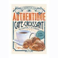 Plaque métale GM Café croissant