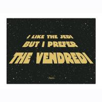 Plaque métal PM I like the jedi