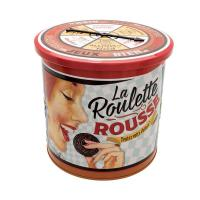 Boîte à biscuits ronde La roulette rousse