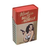 Etui à paquet de cigarettes Belle et rebelle