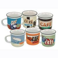 Set de 6 tasses à café Le café dans tous ses états