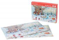 Puzzle paysage d'hiver La Grande Famille