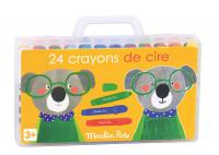 Boîte de 24 crayons de cire Les Popipop