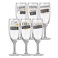 Set de 6 flûtes à champagne Trop de bulle