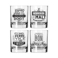 Set 4 verres à whisky