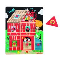 Puzzle encastrable maison Les Bambins