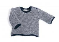 Albin Sweat-shirt bleu et blanc