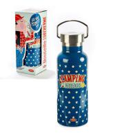 "Bouteille isotherme ""Camping pas un radis"""