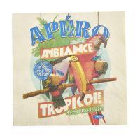 Serviettes papier Tropicole