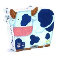 Puzzle silhouette les vaches à la ferme