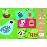 Puzzle Duo Animaux et Habitat