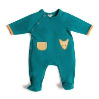 Marcel pyjama jersey bleu/vert 6 mois