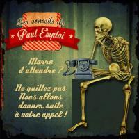 Plaque en métal Squelette