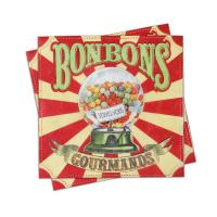 Serviettes papier Bonbons Gourmands